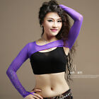 New Women Belly Dancing Costume Shrug Elastic Soft Arm Gloves Armbands Diamond