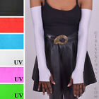 1285 White Nylon Long Arm Warmers Spandex Anime Cosplay Comic Con Sailor Moon