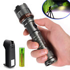 Tactical Police Cree XML T6 8000LM LED Zoomable Flashlight+18650Battery+Charger