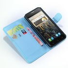 PU Leather Stand Flip Wallet Case Cover For Alcatel One Touch POP C1 C3 C5 C7