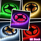 5M led strip 300leds 3528 / 5050 single color / RGB light waterproof adapter UK