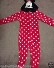 New Disney Minnie Mouse girls all in one onesie pyjamas nightwear loungewear