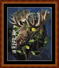 ASPEN MOOSE -  14 COUNT X STITCH CHART (DMC THREADS) FREE PP WORLDWIDE