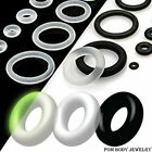 o gauge plugs - 10 PCS Pack Black or Clear Rubber Band O-Rings Replacement Plugs Gauges Tapers