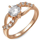 Happiness Freshwater Cultured White Pearl Plated 18K Rose Gold Ring 7 8 9 Sizes