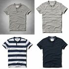 NWT Abercrombie & Fitch Mens Henley T-Shirt Multiple Colors & Sizes Large and XL
