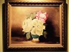 Oil Painitng Flowers Framed and Signed by Artist