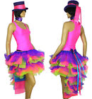 Carnival Burlesque Neon UV Pink Purple Green Dress up Show Theatrical TuTu Skirt