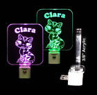 "Personalized Cute Kitty Cat LED Night Light - Kids Lamp 3/8"" Acrylic"