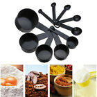 For Baking Coffee Measuring Set Tools 10pcs Black Plastic Measuring Spoons Cups