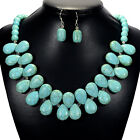 Vintage Turquoise Necklace Women Handcrafted Gemstone Jewellery Tantric Tokyo UK