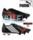 SALE..Puma evoPOWER 2 FG(Firm Ground) Black/Grenadine Mens Football Boots RRP£95