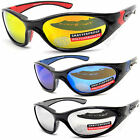New Mens Teens Unisex UV400 Mirror Sports Wrap Around Dark Sunglasses Skiing