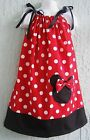 Minnie Mouse Pillowcase Dress Girl Size 4-12 yrs  Mult-color Polka Dots Summer x