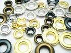 Rustproof eyelets  8 / 10 and 12mm inner diameter various colors and quantities