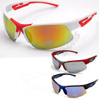 Mens Eyelevel UV400 Mirror Sunglasses White Blue Red Black Bikers Skiing Sports
