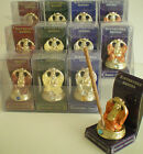 New Lovely Gold Effect And Birthstone Jewel Buddha Incense Stick Holder 7407