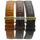Padded Croc Grain Genuine Leather Watch Strap band 18mm 20mm 22mm