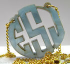 Personalized Monogram Necklace Bleeding Colors Personalized Bridal Jewelry