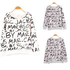 New Good quality Women Words Letter Print Hoodies Long Sleeve Loose Sweater Tops