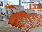 Orange Tree Cotton Bedding Set: Duvet Cover Set or Comforter or Both, Queen/King