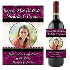 Personalised Wine Champagne Bottle Label HAPPY BIRTHDAY N51 ~ Great Gift Idea