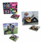 Computer mouse mat and coaster set  RUGBY, GUITAR or ROCK MUSIC 5 designs