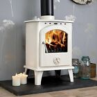 cream wood burning stove