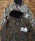 DUCK DYNASTY MENS THICK FUR LINED COTTON/POLY ZIP-UP CAMO LOGO HOODIE LIST $60