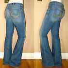 ORIGINAL $200+ Rock&Republic Roth Flare Jeans Medium Blue Metal Stud R Pkt 23 25