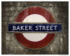 LONDON UK Underground Baker St.Tube Sign, Poster/Print