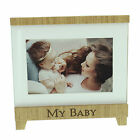 Wood Easel Style Photo Frame with wording - MR & MRS, MY BABY or OUR FAMILY