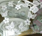 White Heart Metal Hanging Wall Decoration Butterfly Flower Shabby Chic Vintage