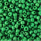 500g Green Opaque Seed Beads Size 6/0 (4mm) Craft Packs, Jewellery Making