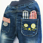 Baby Boys Girls Toddlers Jean Cute Rabbit / Bunny Elastic Waist 1-4 Years