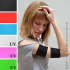 1027 Short Chic Black Roller Derby Arm Bands Cyber Stretchy Athletic Arm Cuffs