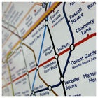 LONDON ENGLAND Underground Subway Tube Map Poster/Print