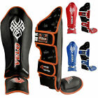 VELO Rex Leather Boxing Gloves Punch Bag MMA Fight Muay Thai Pads BlueW