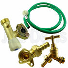 OUTDOOR GARDEN TAP KIT WITH SUPPLY HOSE WALL MOUNTED CONNECTOR PLUMBING SET