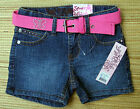 SQUEEZE GIRLS ADJ. WAIST MEDIUM STONE DEMIN SHORT W/BELT LIST $22.