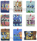 For 9-10.5 Tablet 360 Rotating Cute Cartoon Kids Owl Animal Leather Case Cover