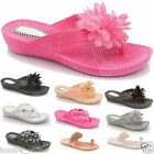 NEW LADIES WOEMNS FLIP FLOPS GIRLS  SUMMER FLAT BEACH JELLY THONG SHOES SANDALS