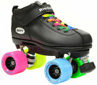 Riedell Dart Double Rainbow Quad Roller Derby Speed Skate 2 Laces Rainbow & Blk