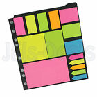 PAGE MARKER SET 300PC SET FOR A4 RING BINDERS BRIGHT COLOURS DESIGNING SCHOOL