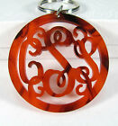 Laser Cut Monogram Key Chain Personalized Bridesmaid Gifts