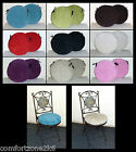 2 x ZIPPY ROUND SEAT PADS - WASHABLE POLYESTER CHUNKY CORD 5 SIZES 9 COLOURS