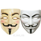 V FOR VENDETTA ANONYMOUS GUY FAWKES FACE MASK HALLOWEEN YELLOW / WHITE