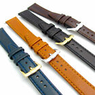 Smooth grain watch strap genuine leather band 12/14/16/20mm choice of colours