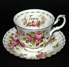 ROYAL ALBERT ' FLOWER OF THE MONTH  ' TEA CUP & SAUCER - ENGLISH BONE CHINA