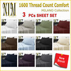 Soft Microfibre 3pcs Fitted Bed SHEET SET DOUBLE QUEEN KING NO Flat Sheet